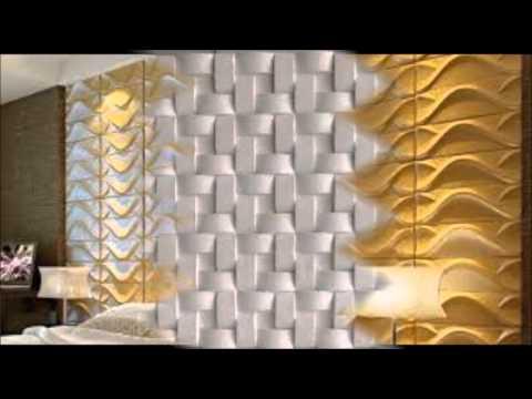 Molduras e placas 3d em gesso youtube - Paredes decoradas con piedra ...
