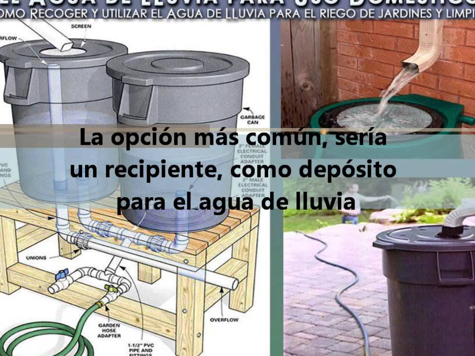 Reciclado de agua de lluvia youtube for Impermeabilizante para estanques de agua