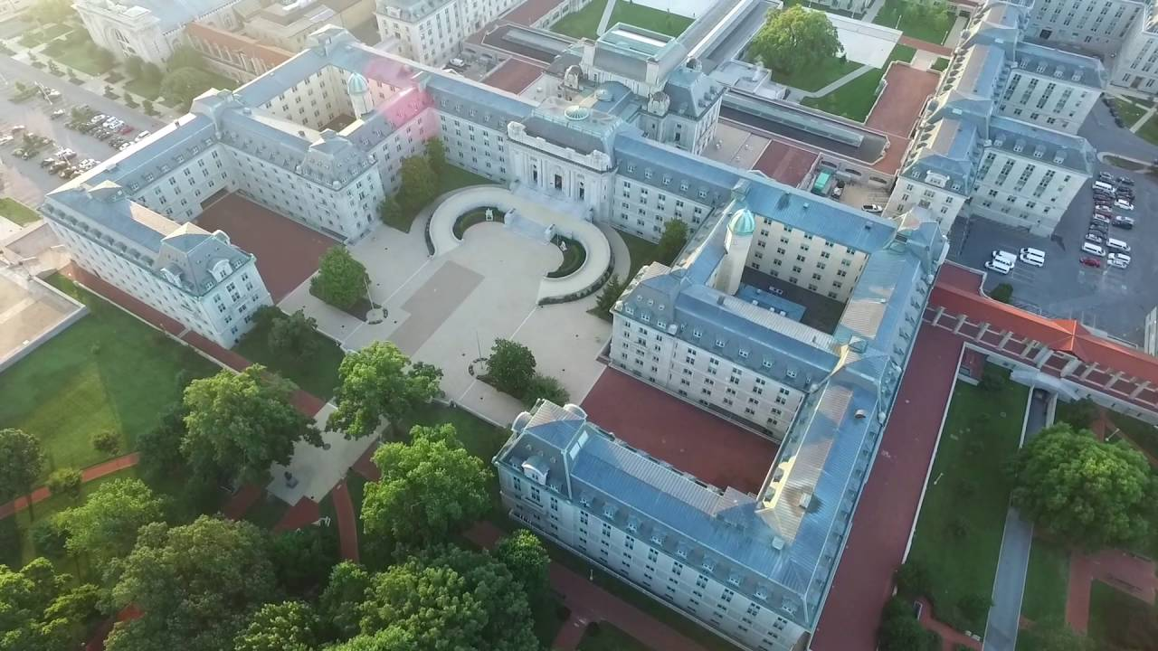 Drone View of United States Naval Academy in Annapolis, MD - YouTube