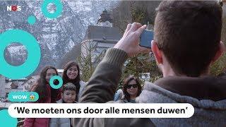 Kinderen uit 'Frozen-dorpje' worden gek van toeristen