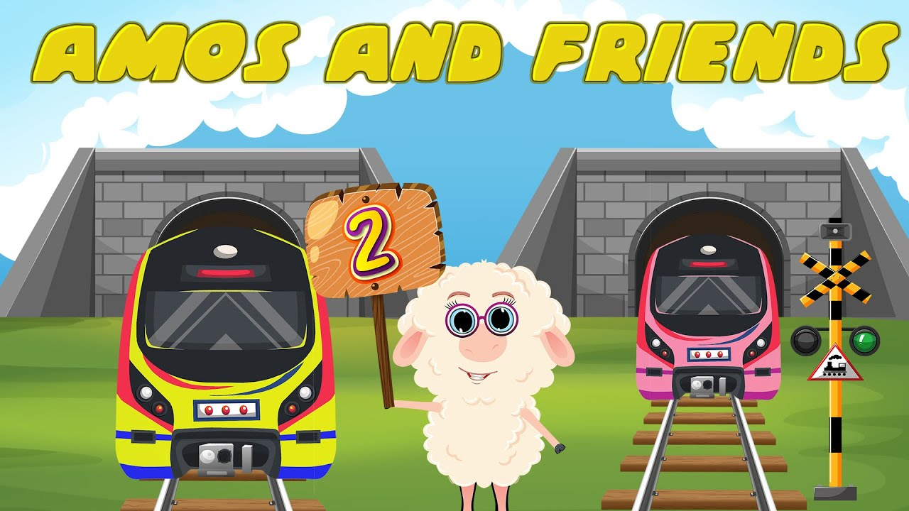 Learn how to Count from 1 to 10 with Colorful Trains