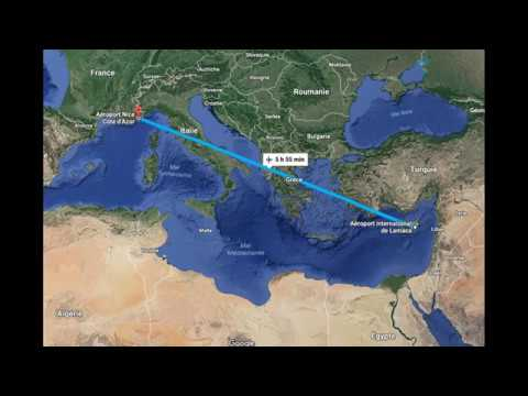from Nice to Larnaca (AIR FRANCE)