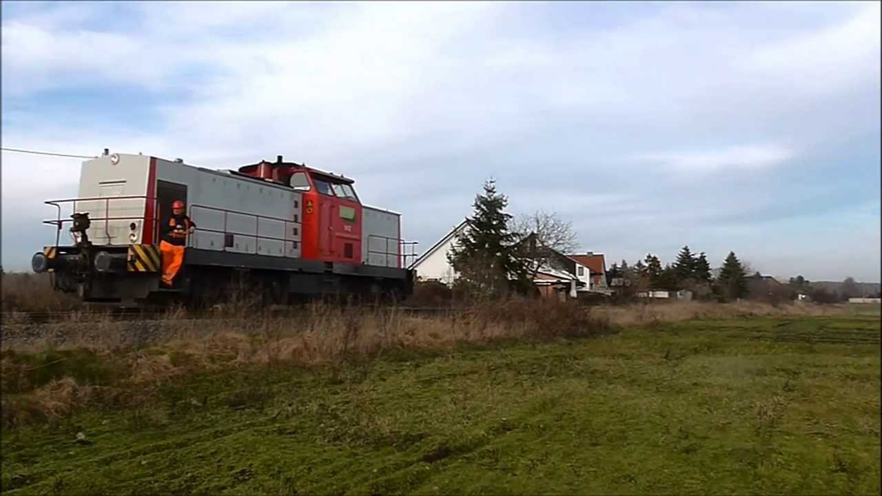 Anschlussbahn Feldbinder in Wittenberg West (vor dem Schnee einbruch) [FullHD]