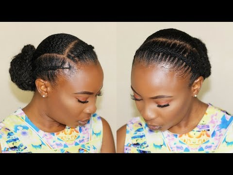how-to-|african-threading-flat-twist-|-low-bun-hairstyle-for-short-natural-hair