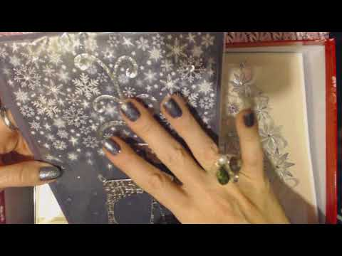 ASMR Whisper ~ Up-Close Christmas Card Show & Tell (& Plastic Crinkling)