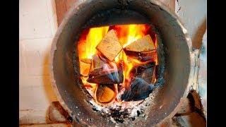 Самодельная печка для гаража.  Как сделать самодельную печку из колесных дисков