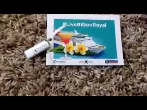 Royal Caribbean Gift Bag upacking