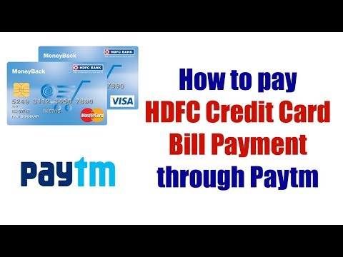 Pay Credit Card Bill Through Paytm
