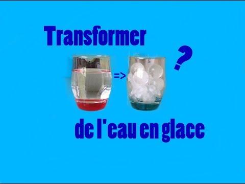 TRANSFORMER DE L'EAU EN GLACE INSTANTANÉMENT ?! - RÉVÉLATION ?!