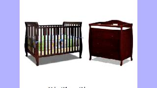 Baby Mile Hannah 4-in-1 Convertible Crib With Toddler Rail And Lena 2 Drawer Changer
