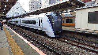 E353系 長モトS210+S120編成 三鷹駅入線~発車 '19.03.28