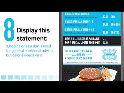 9 Ways to Make Your Restaurant Menu Boards FDA Calorie Compliant