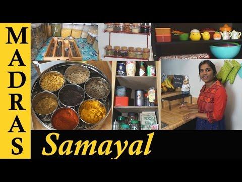 Kitchen Organizing Tips   What's in my Kitchen   Kitchen Organization Ideas in Tamil