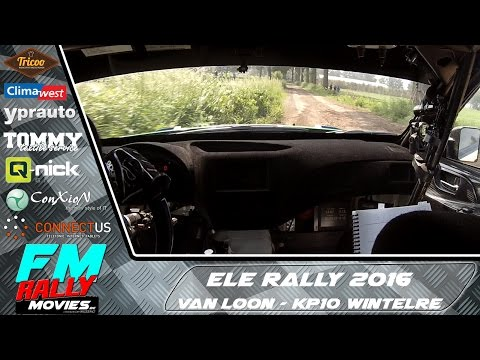 ELE rally 2016 | ONBOARD | Van Loon - KP10 Wintelre [HD]