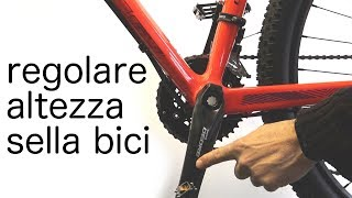 HOW TO ADJUST THE SADDLE OF THE BIKE