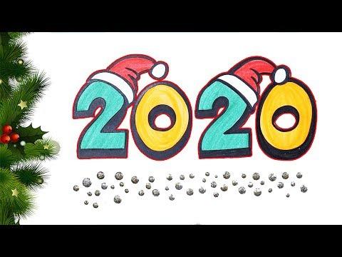 2020 Çiz Ve Boya 🎄 | Renkleri Öğreniyorum | Türkçe Ve İngilizce Öğreniyorum