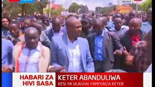 Breaking News: Nandi Hills MP Alfred Keter takes to the streets after court's nullify his 2017 win