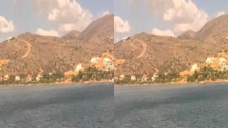 плывем по средиземному морю из порта Элунда на остров Спиналонга около острова Калидон (Крит Греция)(, 2014-09-01T03:54:11.000Z)