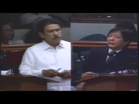 Latest News On Bangsamoro Basic Law Bongbong Marcos Explained as Interpellated by Tito Sotto