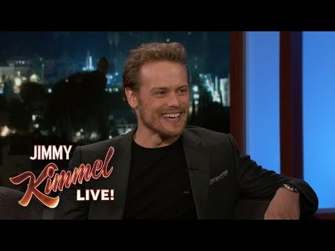 Jimmy Kimmel vs. Sam Heughan On Fans, Lying for Gigs & New Movie