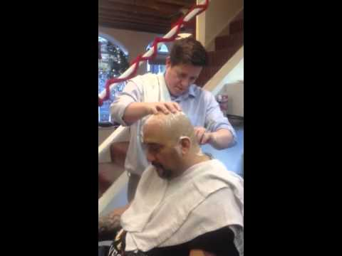 Pete Junior Gets a Strait Shave