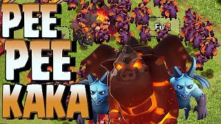 Clash Of Clans - MINION & LAVA HOUND = PEE PEE KAKA!! (Troll Team compositions)