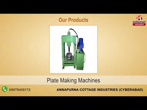 Paper Plate Machine and Dies By Annapurna Cottage Industries, Cyberabad