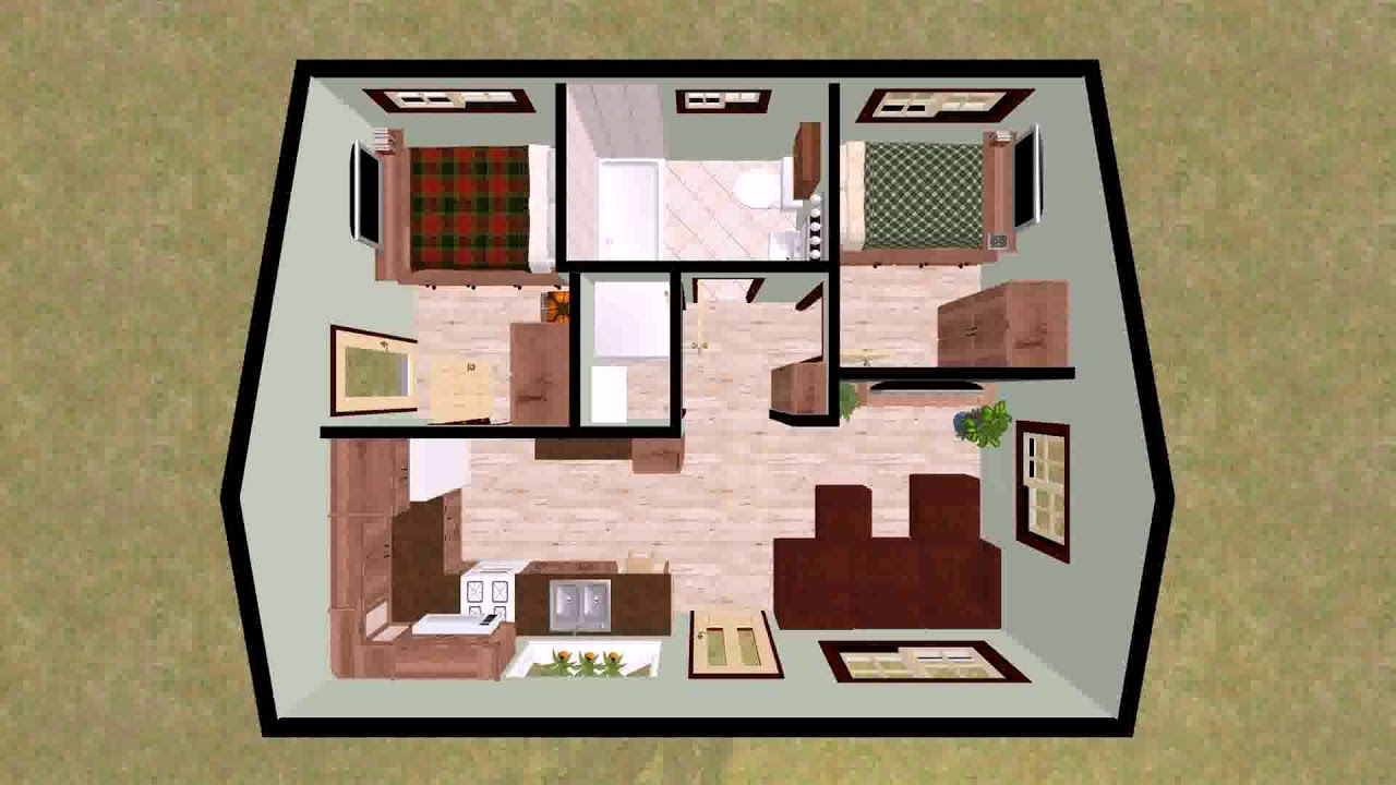 Low Budget Modern 2 Bedroom House Design Floor Plan - DaddyGif.com