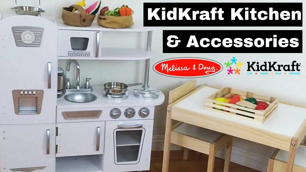 Kid Kraft Vintage Modern Play Toy Kitchen Accessories Melissa Doug