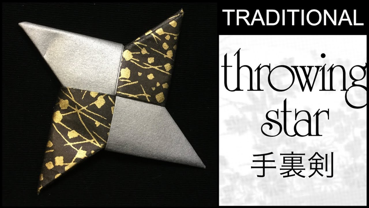 Traditional Origami Throwing Star Tutorial Youtube