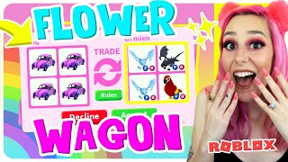 What I ACTUALLY Got From Trading Flower Wagons For 24 Hours IN Adopt Me (Roblox)