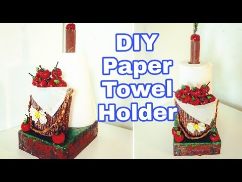 kitchen Paper Towel Holder | DIY | How to make a beautiful kitchen tissue holder :