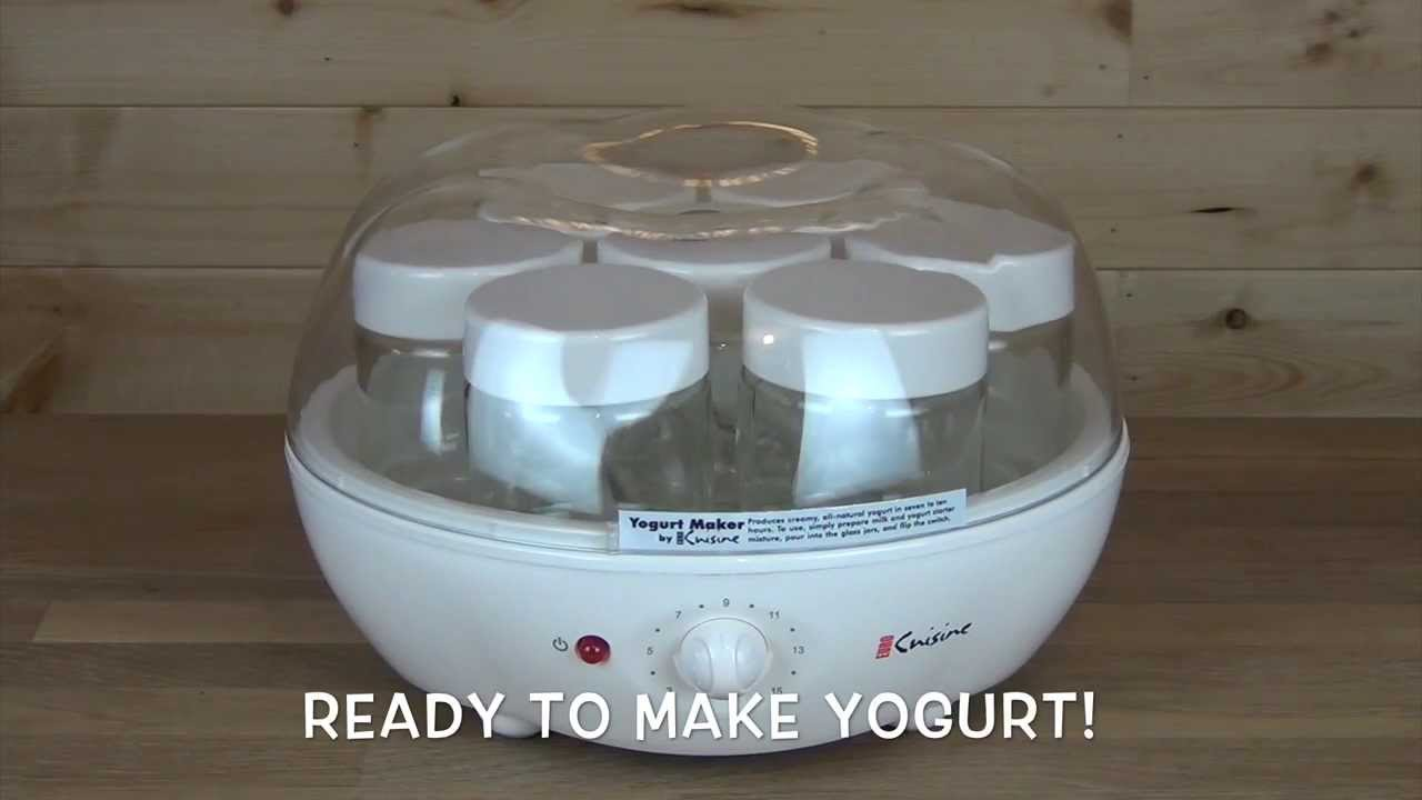 Euro Cuisine Automatic Yogurt Maker Ym100 Product Overview Youtube