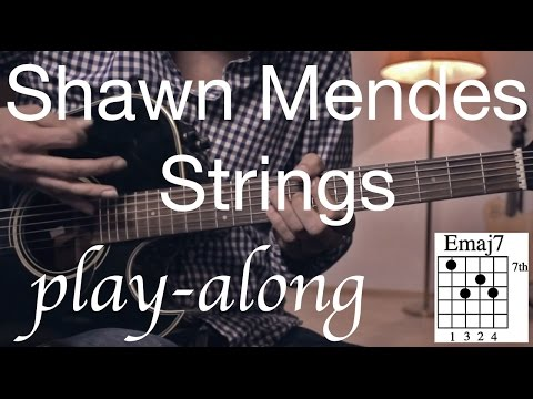 Strings - Shawn Mendes Guitar Lesson / Tutorial - Play-along on Guitar /cover/NO CAPO