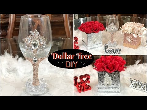 DOLLAR TREE DIY GLAM ROSE GOLD AND SILVER VALENTINES DECOR  MY BIRTAY EDITION 2019