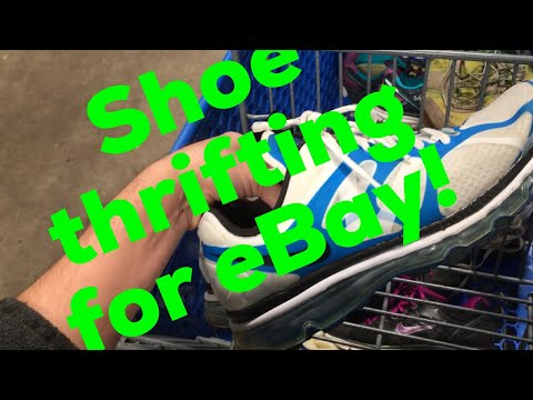 Thrifting for shoes to sell on eBay #17