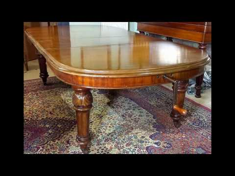 Brown's Antiques Billiards and Interiors.Victorian wind out dining table