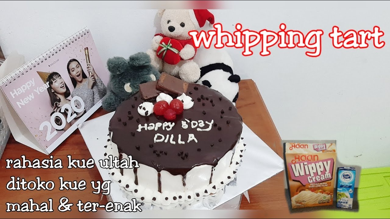 RESEP KUE ULTAH WHIPPY CREAM || WHIPPING TART || KUE ULTAH COKLAT || Base Cake Brownies Panggang ...