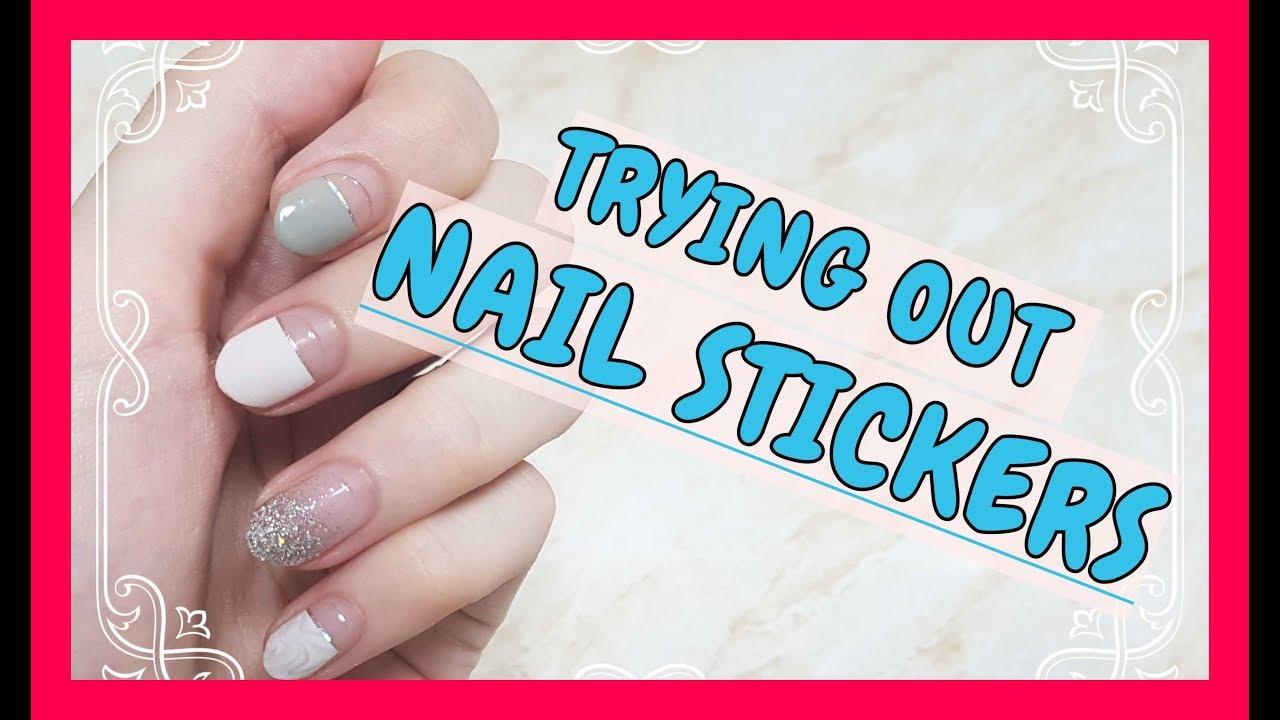 Nail Sticker Review Dashing Diva Gloss Gel Strip 네일 스티커 리뷰