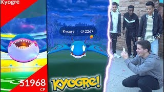 I FOUND KYOGRE IN POKÉMON GO! NEW LEGENDARY IS HERE!
