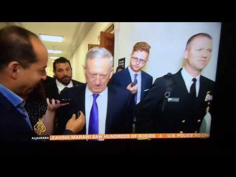 James Mattis, US Sec Defense advises reporter 'Watch Out'!!