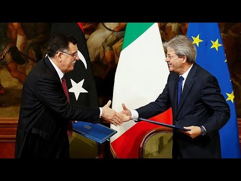 Italy-Libya sign agreement to curb flow of migrants to Europe