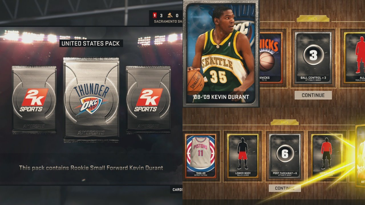 NBA 2K15 My Team Rookie KEVIN DURANT And Promo Packs