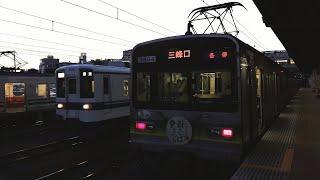 【東武鉄道】激レア!?秩父鉄道熊谷駅留置線に入線する8000系(8506F)