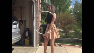 Hula Hooping in Heels!