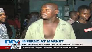 Parts of Kongowea market razed by night fire
