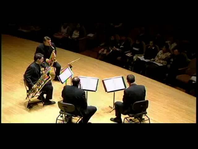 habanera saxophone quartet play bach