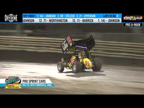 Knoxville Raceway Pace Pro Sprints Highlights - July 13, 2019
