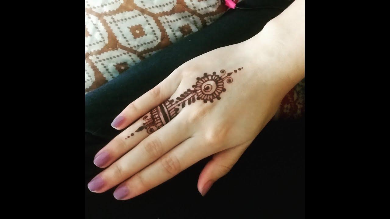 Mehndi Fingers Rating : A mini mehendi quot ring design finger henna tutorial