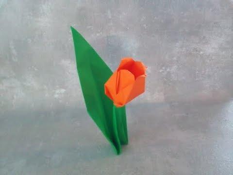 diy tulpen aus papier falten muttertagsgeschenke basteln geschenke selber machen youtube. Black Bedroom Furniture Sets. Home Design Ideas